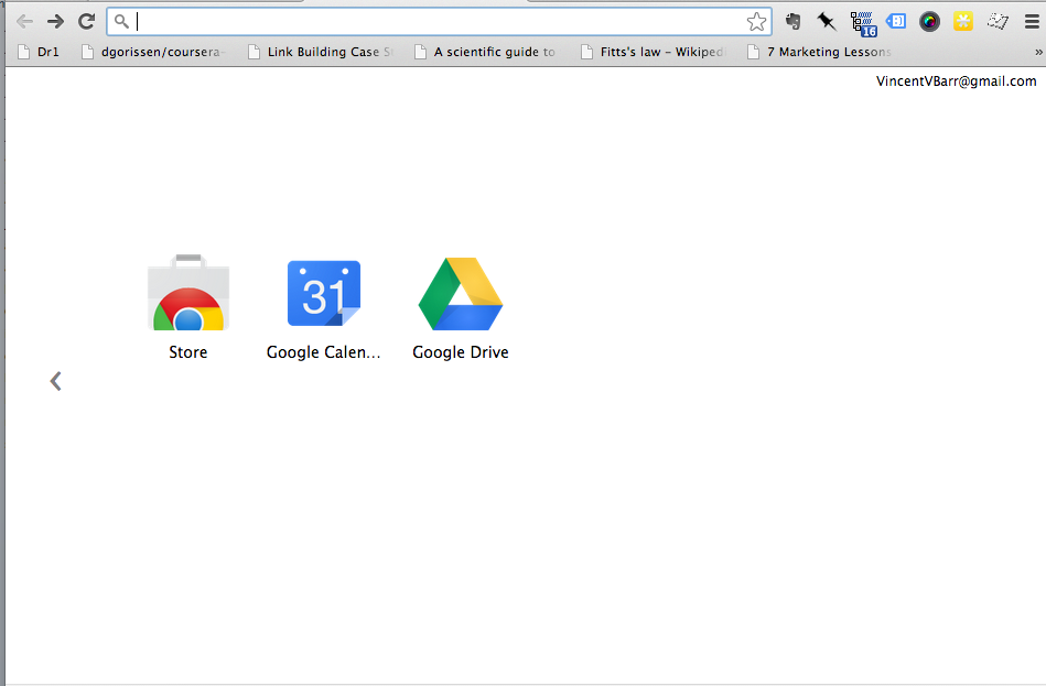 Chrome Homepage After